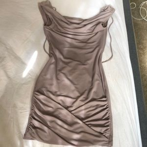 Bcbg grey stone color dress